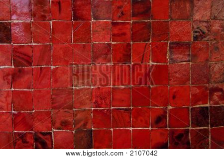 Red Murano Glass Tiles Pattern