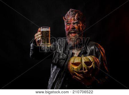 Halloween Bad Habits And Addiction Concept