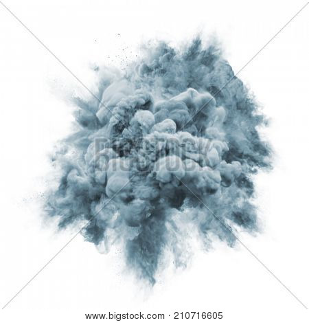 Paint powder explosion or pink color fluid liquid splash isolated on white background. Gray color glitter burst magic effect of with glowing shimmer texture for fashion cosmetic background design