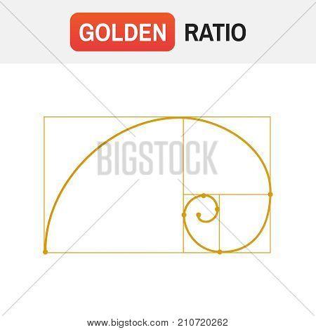 Golden Ratio Spiral. Symbol Of The Golden Ratio Tattoo