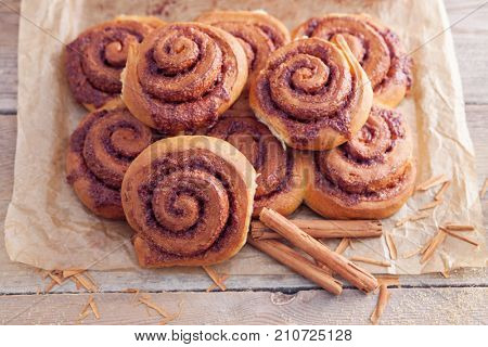 homemade cinnamon rolls - sweet food