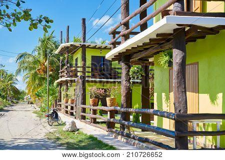 Holbox Island beach street in Quintana Roo of Mexico