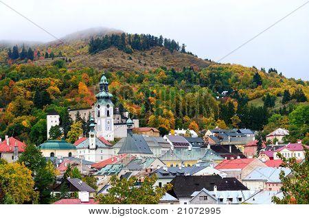Autumn in historical Banska Stiavnica