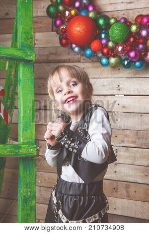 happy 4  year-old girl. closeup