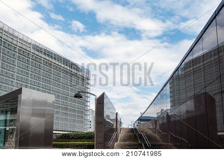 BRUSSELS, BELGIUM - August 5, 2017 : European Commission in Brussels, Belgium.European Union, responsible for proposing legislation, implementing decisions, BRUSSELS, BELGIUM