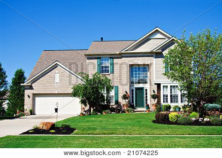 Brick Suburban House