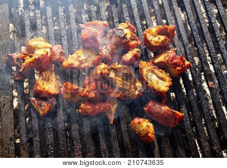 Al Pastor meat barbecue in Riviera Maya of Mexico