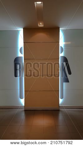 Vector Man & Woman restroom sign and background