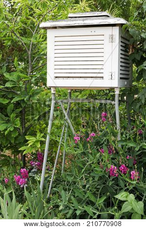 Weather station in a garden in France