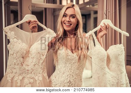 Attractive Bride In Wedding Salon