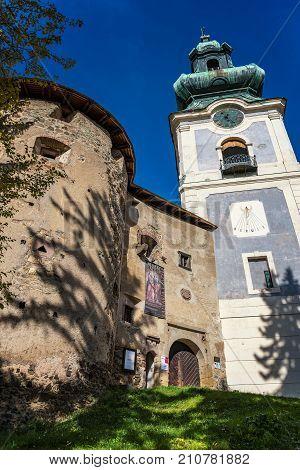 Banska Stiavnica – October 15 2017: Calvary In Asylum – Relief Carving Exhibition In Old Castle. Rel