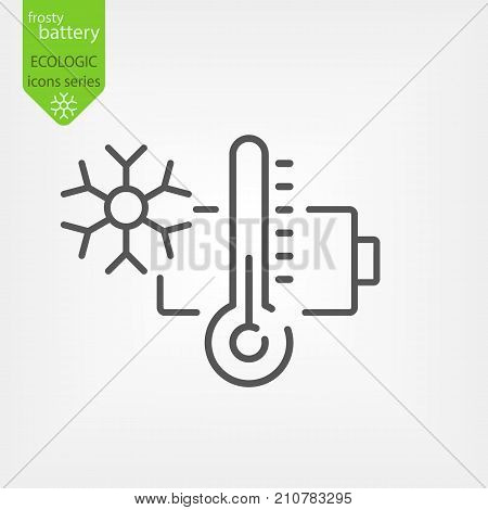 Battery With Thermometer
