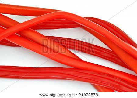Red licorice strips