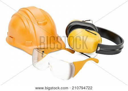 Protective equipement 3D rendering isolated on white background