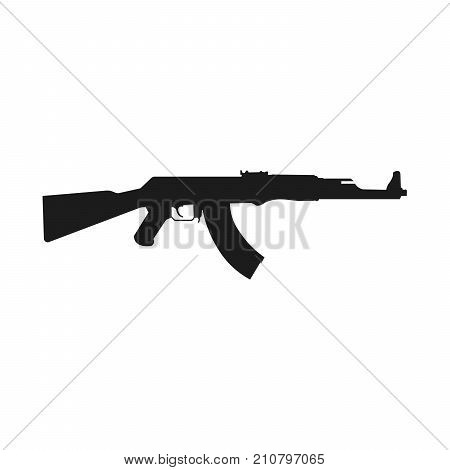 Assault rifle icon isolated on white.. Kalashnikov assault rifle AK-47. Vector Illustration EPS