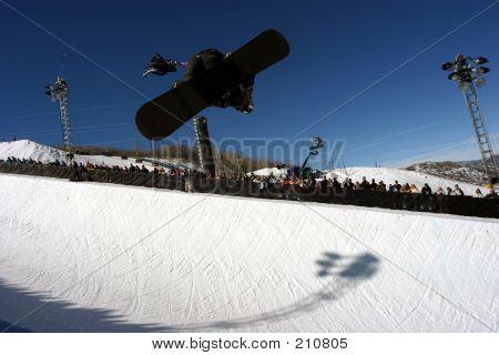 Half Pipe Snowboarder 1