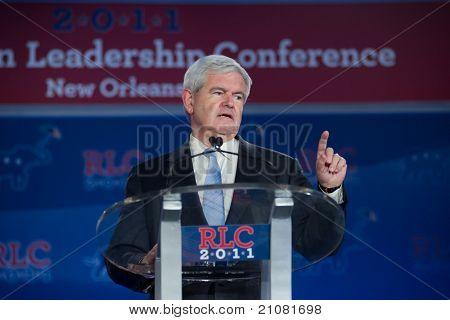 New Orleans, la 16. Juni: Präsidentschaftskandidat Newt Gingrich Adressen die republikanische Führung