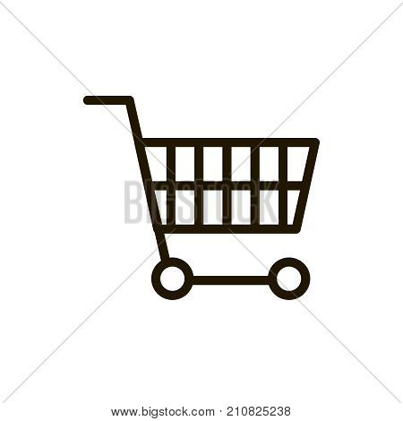 Shopping cart icon set. Collection of high quality outline e-commerce pictograms in modern flat style. Black cart symbol for web design and mobile app on white background. Internet line logo.