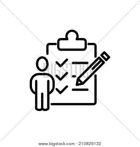 Modern clipboard line icon. Premium pictogram isolated on a white background. Vector illustration. Stroke high quality symbol. Clipboard icon in modern line style.