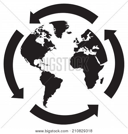Eco world abstract africa america business button continents
