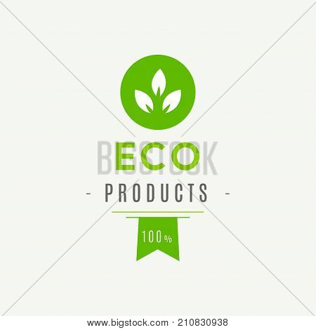 Eco icon label. Organic tags. Natural product element. Flat stamp. Natural eco product. Vector label sign