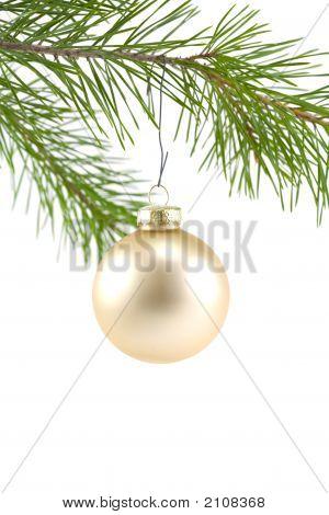 Gold Satin Ball Christmas Ornament