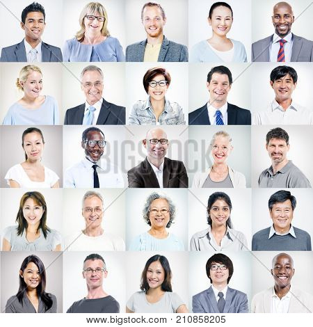 Group of Multi-ethnic Diverse Business People