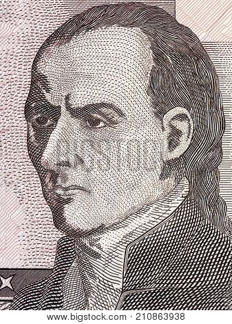 Jose Gaspar Rodriguez de Francia portrait from Paraguayan money