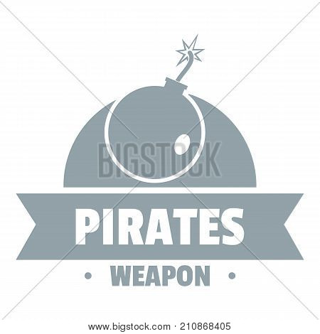 Pirate bomb logo. Simple illustration of pirate bomb vector logo for web