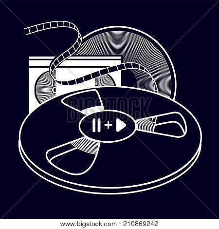 Set Of Old Vhs Cassette Black
