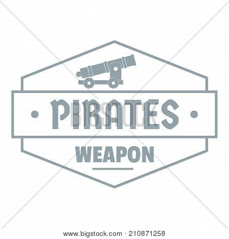 Pirate cannon logo. Simple illustration of pirate cannon vector logo for web