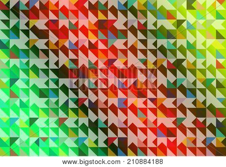 The colorful of various dimension background, vector