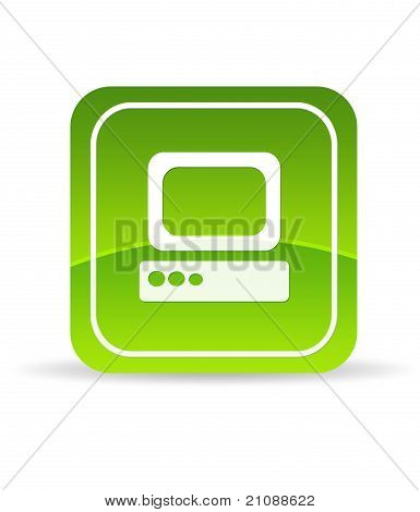 Green Computer Icon