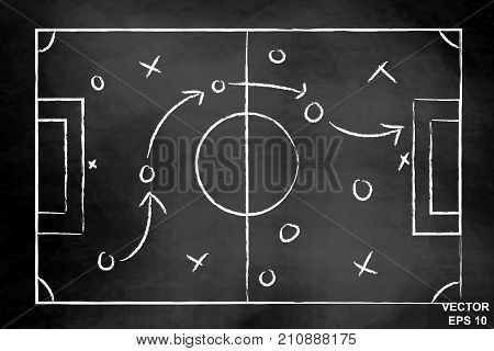 The Scheme Of The Game. Strategy. Tactics. On The Chalkboard. For Your Design.