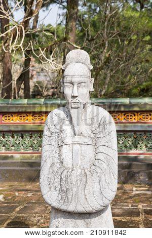 Warrior At Tomb Of Tu Duc In Hue Vietnam