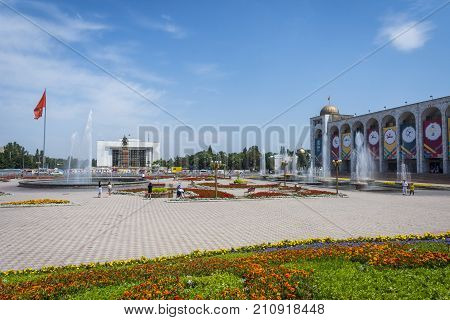Bishkek Main Square, Kyrgyzstan