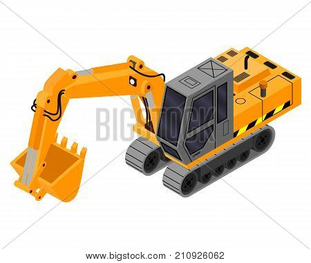 excavator 3D. This is an excavator for construction