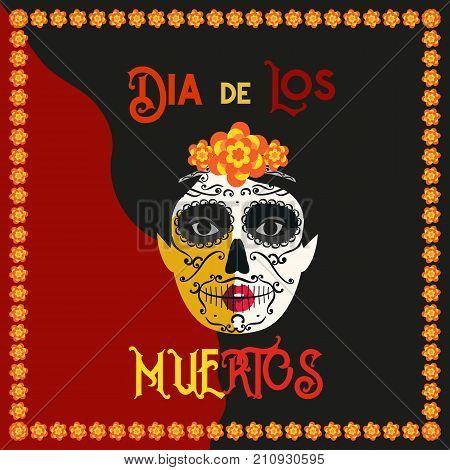 Mexican Dia De Los Vector Photo Free Trial Bigstock