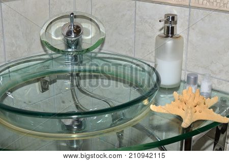Glass Water Basin