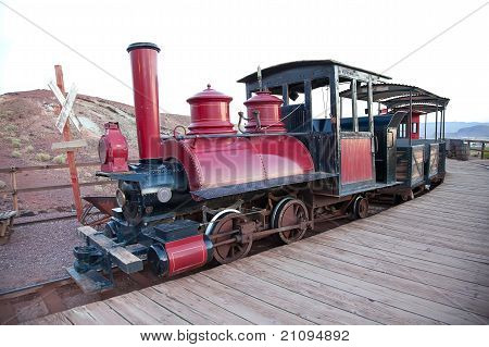 Vintage Locomorive With Carriage