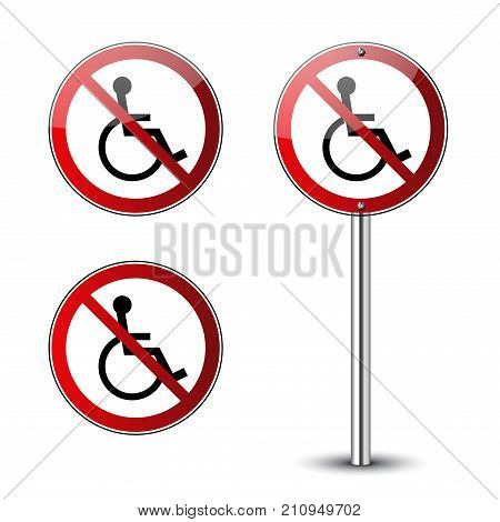 No Disabled Signs