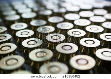 Bullets Close Up High Quality Stock Photo
