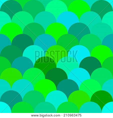 Seamless pattern mermaid tail, fish scales. Traditional classic japanese, korean, chinese background. Layers of circles, arcs. - Stock vector