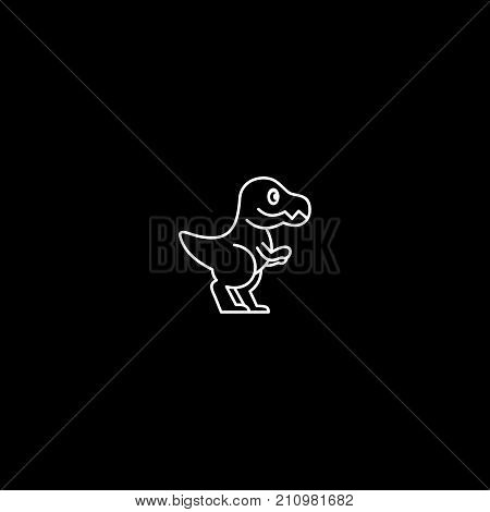 Dinosaur skeleton. Diplodocus.Sauropod. Vector Image sauropod skeleton isolated on green background.Can be used as logo. For flat illustrations
