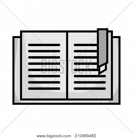 grayscale education book object to learn and study vector illustration