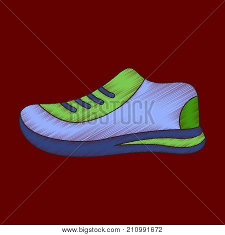 flat shading style icon sports shoes footwear