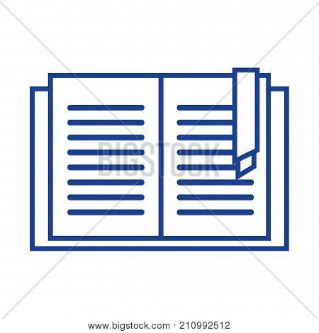 silhouette education book object to learn and study vector illustration