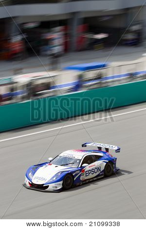 Portrait view of Team Nakajima at the Malaysian SuperGT race