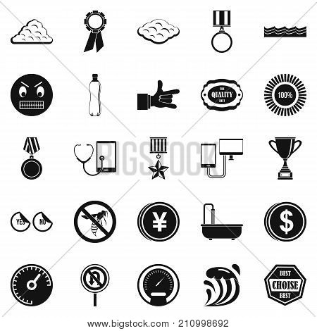 Sample icons set. Simple set of 25 sample vector icons for web isolated on white background