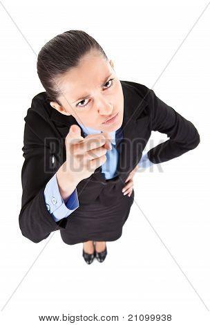 Businesswoman Threatening